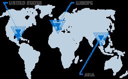 World map PACKR